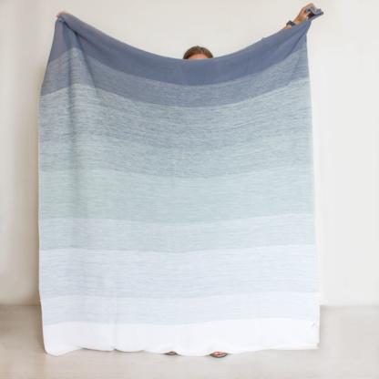 Bunni Ombre Blanket - Ocean Blue