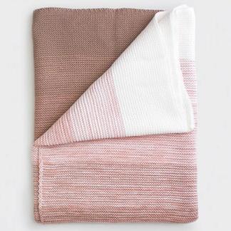 Bunni Ombré Blanket - Vintage Nude Pink