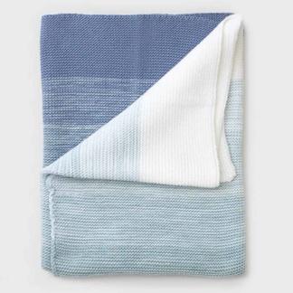 Bunni Ombré Blanket - Ocean Blue