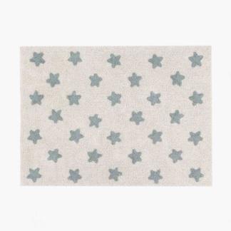 Stars Rug - Natural & Vintage Blue