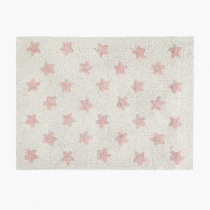 Stars Rug - Natural & Vintage Nude Pink