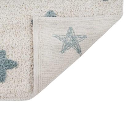 Lorena Canals Stars Rug - Natural & Vintage Blue