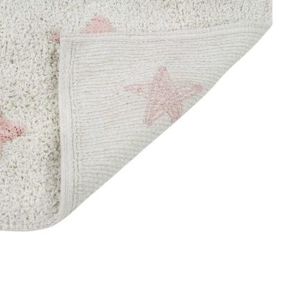 Lorena Canals Stars Rug - Natural & Vintage Nude Pink