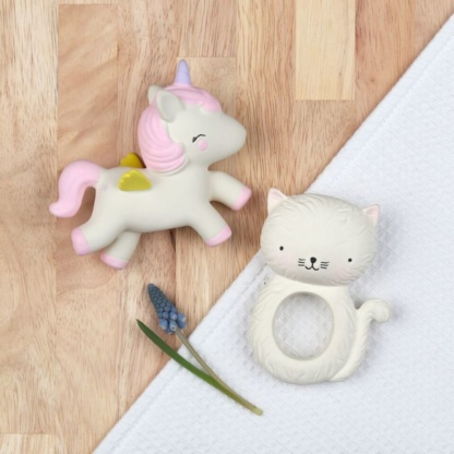 A Lovely Little Company Unicorn Teething Toy & Kitty Teething Ring