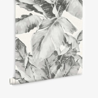 Aurelia Palm Leaf Wallpaper - Charcoal
