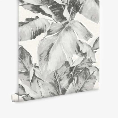Aurelia Palm Leaf Wallpaper - Charcoal