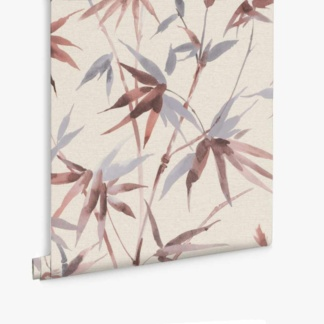 Bamboo Texture Wallpaper - Blush
