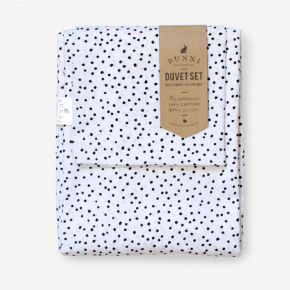 Bunni Black Messy Dot Duvet Set