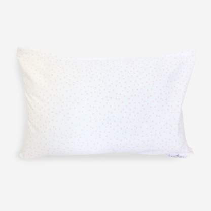 Bunni Nude Pink on White Messy Dot Junior Pillow