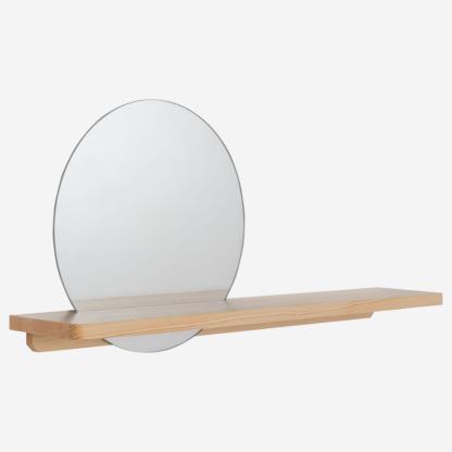 Vox Sense Round Mirror with Shelf