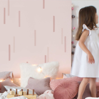 Bunni Stubby Line Wall Decals - Dusty Pinks