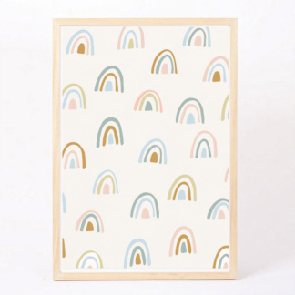 Bunni Rainbow Forest Art Print