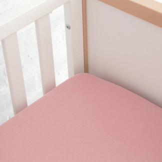 Lola & Peach Cot Fitted Sheet - Dusty Rose