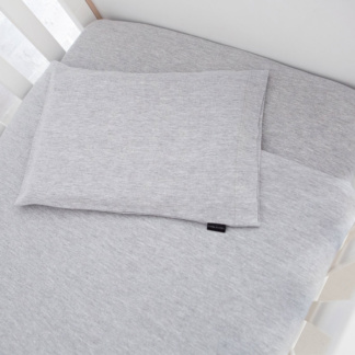 Lola & Peach Cot Set - Grey Melange