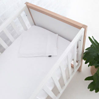 Lola & Peach Cot Duvet Set - White Jersey Knit