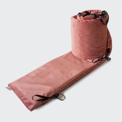Bunni Dusty Rose Velvet Cot Bumper Cover