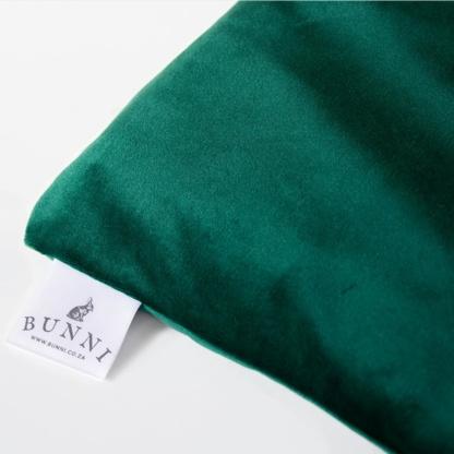 Bunni Emerald Green Velvet Cot Bumper Cover