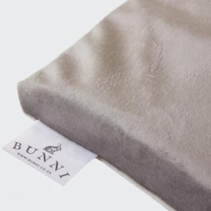 Bunni Misty Grey Velvet Cot Bumper Cover
