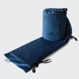 Bunni Midnight Blue Velvet Cot Bumper Cover
