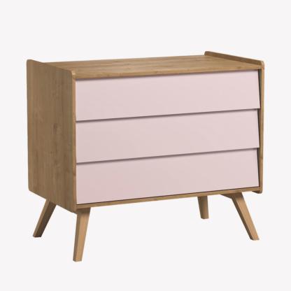 Vintage Compactum without Changer - Oak & Pink