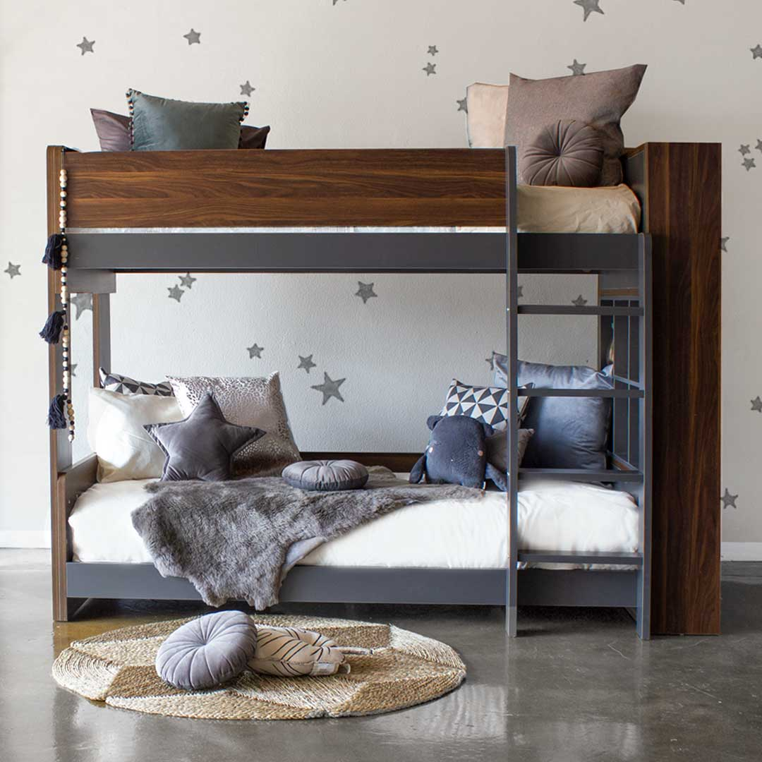 Flant & Mungo Bunk Bed - Grey & Walnut
