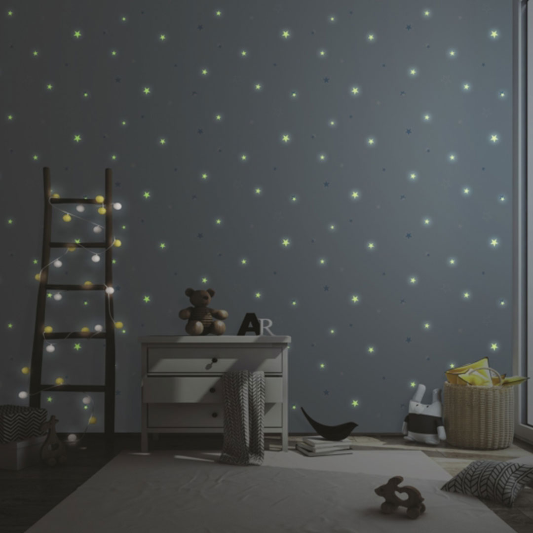 Glow in the Dark Stars Wallpaper