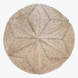 Geometric Seagrass Rug - Large