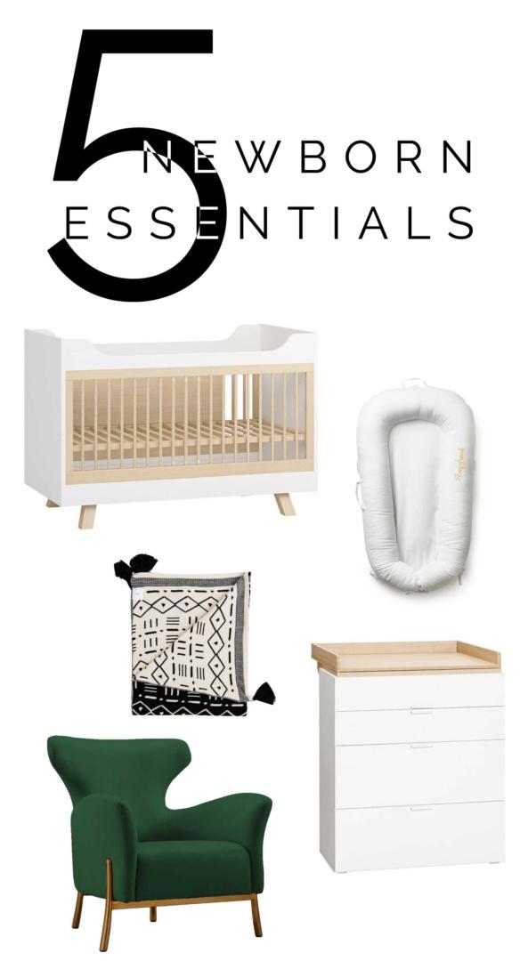 5 newborn essentials for the nursery