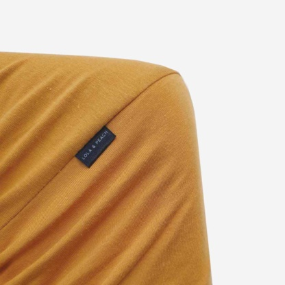 Cot Fitted Sheet - Mustard