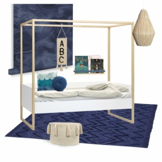 Stormy Blue Kids Room
