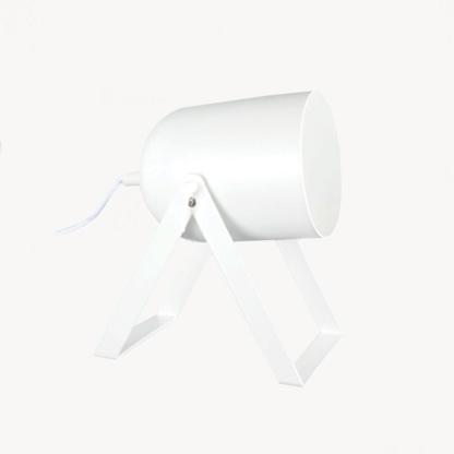 White Metal Desk Lamp