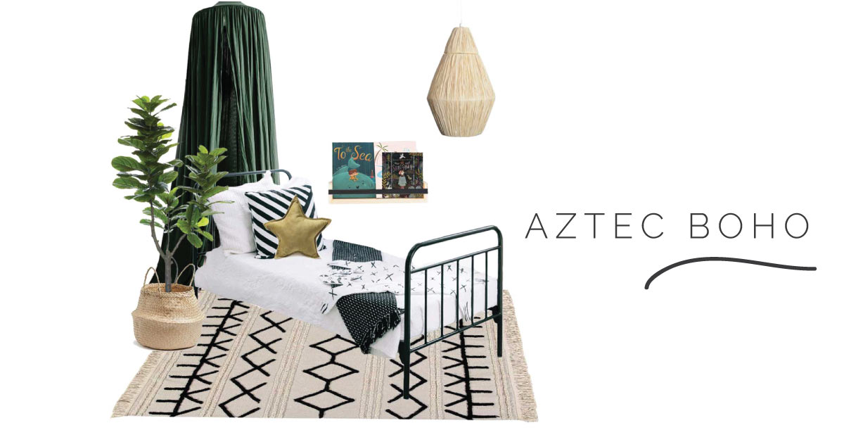 Aztec Boho Kids Room