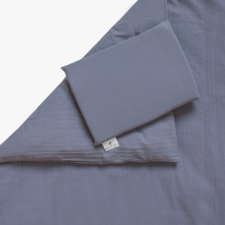 Bunni Signature Cot Set - Dusky Blue