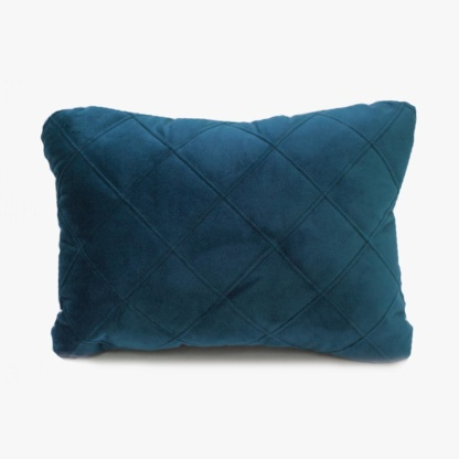 Bunni Velvet Quilted Scatter - Midnight Blue