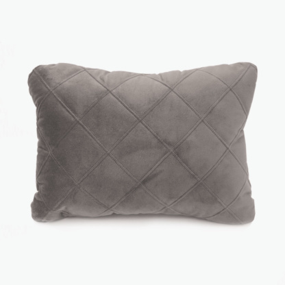 Bunni Velvet Quilted Scatter - Misty Grey
