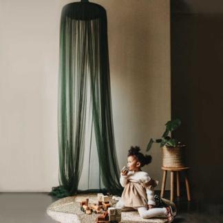 Moo Cachoo Hanging Tent Canopy - Netting - Emerald Green