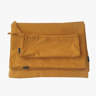 Lola & Peach Duvet Set - Mustard Jersey