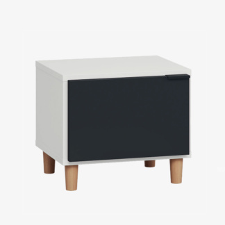 Vox Simple Nightstand - White & Black