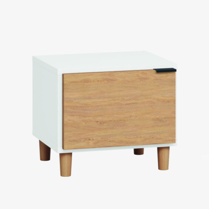 Vox Simple Nightstand - White & Oak