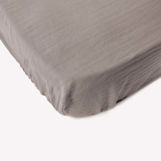 Bunni Signature Cot Fitted Sheet - Misty Grey