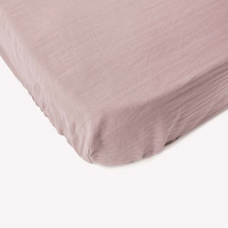 Bunni Signature Cot Fitted Sheet - Rose