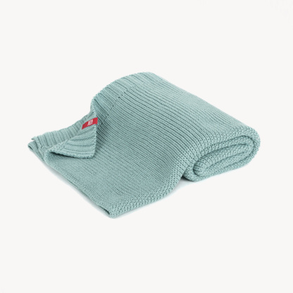 Vox Knitted Baby Blanket 90x75 - Teal