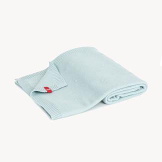 Vox Eco Cotton Baby Blanket 100x80 - Baby Blue