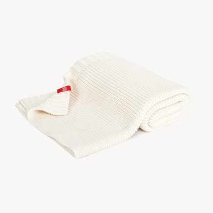 Vox Knitted Baby Blanket 90x75 - Ivory