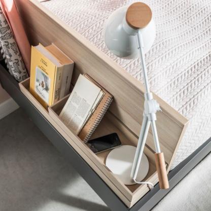 Vox Lori Single Bed Headboard Storage