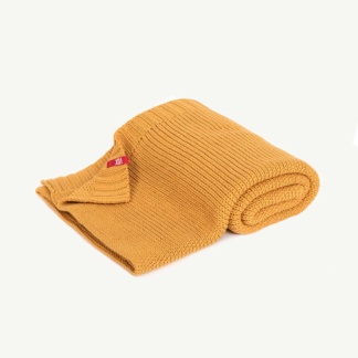 Vox Knitted Baby Blanket 90x75 - Mustard