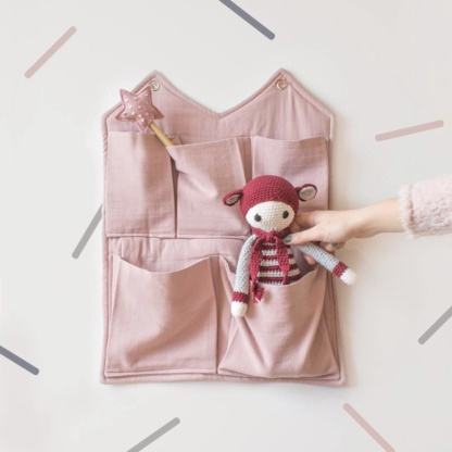 Bunni Signature Wall Pocket - Rose