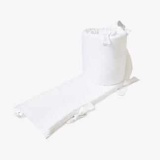 Bunni Signature Cot Bumper Cover - Cloudy White
