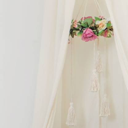 Fairytale Floral Mobile & Hanging Tent Canopy - Natural Ivory