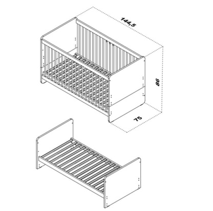 Maxim Cot Bed Specifications